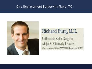 Disc Replacement Surgery in Plano, TX