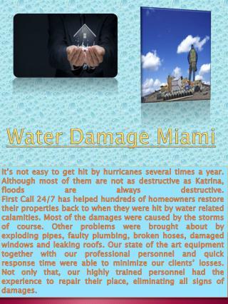 Water Damage Boca Raton