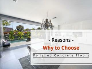 Polished Concrete Floors - Why to Choose?