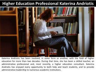 Higher Education Professional Katerina Andriotis
