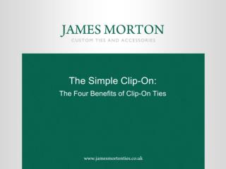 The Simple Clip-On: The Four Benefits of Clip-On Ties