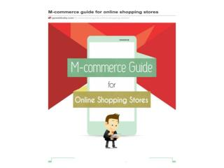 M-commerce guide for online shopping stores