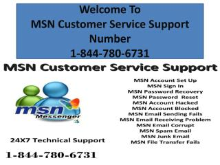 MSN Customer Service Support Number 1-844-780-6731