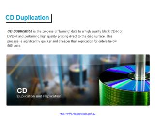 CD Duplication, DVD Duplication