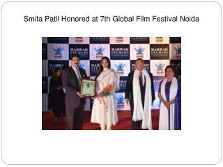 Smita Patil Honored at 7th Global Film Festival Noida