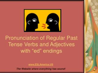 Pronunciation of Regular Past Tense Verbs and Adjectives with  ed  endings