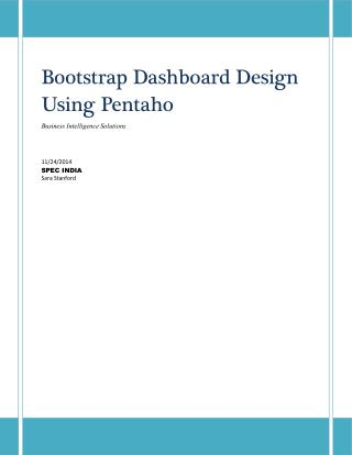 Bootstrap Dashboard Design Using Pentaho