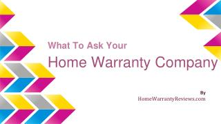 Ask These Question While Buying A Home Warranty Plan