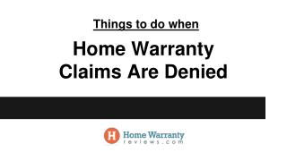 What To Do When Home Warranty Claims are Denied