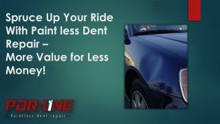 Spruce Up Your Ride With Paintless Dent Repair.