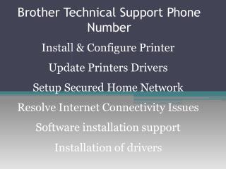 Brother Printer Technical Support 1-800-832-1504 | Toll Free