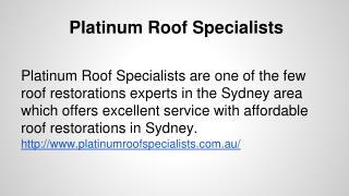 Affordable roof restoration Sydney