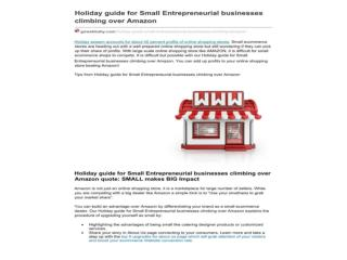 Holiday guide for Small Entrepreneurial businesses climbing