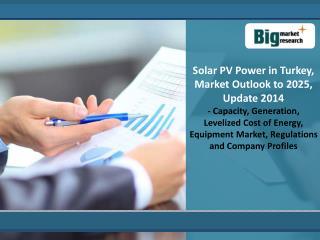 Solar PV Power in Turkey, Market Outlook to 2025