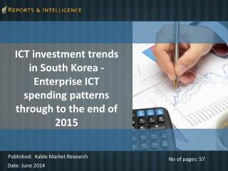 R&I: ICT investment trends Market in South Korea 2015