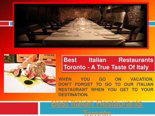 Yorkville Restaurants