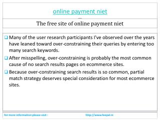 You need To Read just before submitted online payment niet
