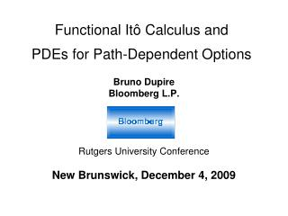 Functional It  Calculus and  PDEs for Path-Dependent Options