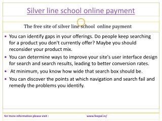 We can also provide service related sliver line school onlin