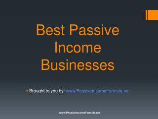 Best Passive Income Businesses