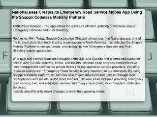 NationaLease Creates its Emergency Road Service Mobile App