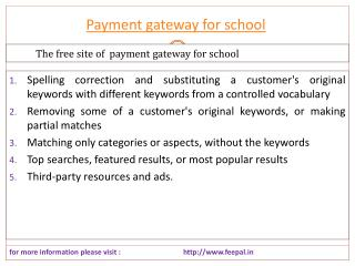 One Of The Best Online hub of payment gateway for school