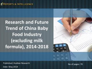 R&I: Future Trend of China Baby Food Industry - 2014-2018