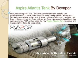 Aspire Atlantis Tank by Dcvapor