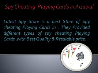 Buy Online Spy Cheating Playing Cards in Aizawl