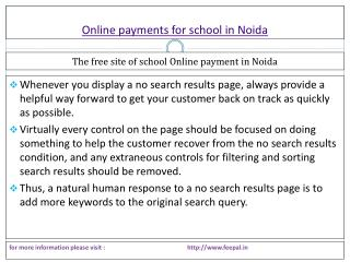 A useful report of online payment for school in noida