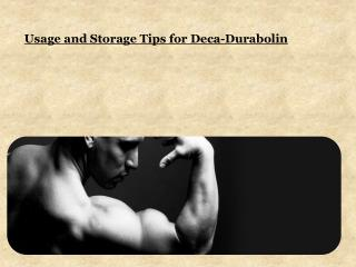 Usage and Storage Tips for Deca-Durabolin