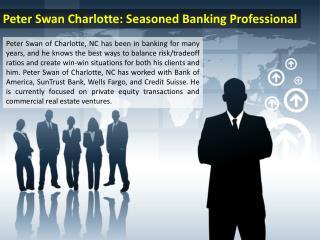 Peter Swan Charlotte - Seasoned Banking Professional