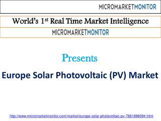 Europe Solar Photovoltaic (PV) Market