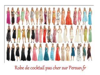 Robe de cocktail pas cher sur le site Persun.fr