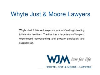 Geelong s leading legal services team