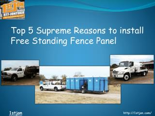 Top 5 Reasons to Install Free Standing Fence Panel