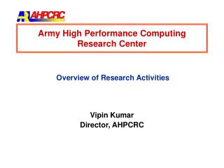 Army High Performance Computing Research Center