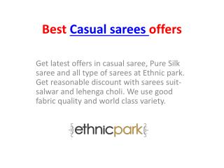 Best Casual sarees offers