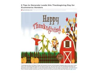 6 Tips to Generate Leads this Thanksgiving Day for Ecommerce