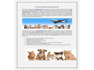 Top Pets Travel relocation Scheme and Export Pets Services U