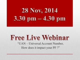 Free live webinar 28 Nov, 2014 - ADP India