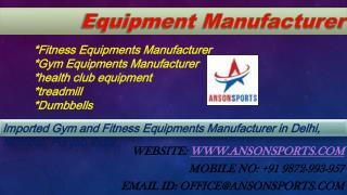 Gym Equipment Manufacturer