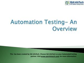 Automation Testing PPT