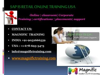 SAP RETAIL ONLINE TRAINING IN HYDERABAD