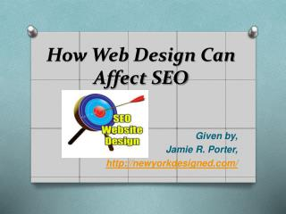 How Web Design Can Affect SEO