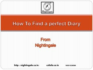 How To Choose a Perfect Diary