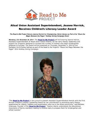 Alisal Union Assistant Superintendent, Jeanne Herrick