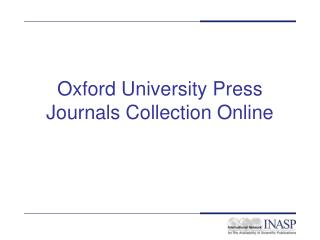 Oxford University Press Journals Collection Online