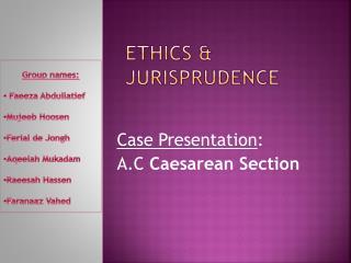 Ethics  Jurisprudence