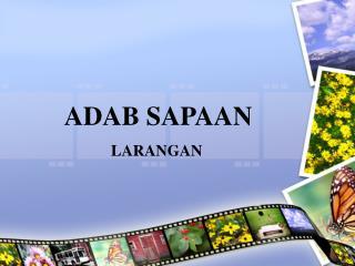 ADAB SAPAAN